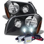 HID Combo 2005-2007 Dodge Magnum Replacement Crystal Headlights - Black