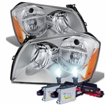 HID Combo 2005-2007 Dodge Magnum Replacement Crystal Headlights - Chrome