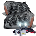 HID Combo 2005-2007 Dodge Magnum Replacement Crystal Headlights - Smoked