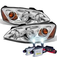 HID Xenon + 2005-2010 Pontiac G6 Replacement Crystal Headlights OE Style - Chrome