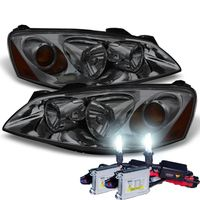 HID Xenon + 2005-2010 Pontiac G6 Replacement Crystal Headlights OE Style - Smoked