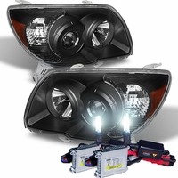 HID Xenon + 2006-2009 Toyota 4Runner [Non Sport Only] Projector Headlights - Black