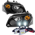 HID Xenon + 2006-2011 Chevy HHR Replacement Crystal Headlights - Black