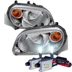 HID Xenon + 2006-2011 Chevy HHR Replacement Crystal Headlights - Chrome