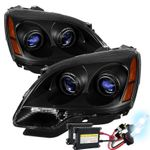 HID Xenon + 2007-2012 GMC Acadia [Halogen Model] Replacement Projector Headlights - Black