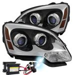 HID Xenon + 2007-2012 GMC Acadia [Halogen Model] Replacement Projector Headlights - Chrome