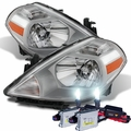 HID Xenon + 2007-2012 Nissan Versa [Hatchback Only] Replacement Crystal Headlights - Chrome