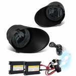 HID Xenon + 2007-2013 Toyota Tundra (Chrome Bumper Only) OEM Style Replacement Fog Lights Kit - Smoked