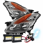 HID Xenon + 2008-2009 Nissan Altima [Coupe Only] Replacement Crystal Headlights - Chrome