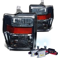 HID Xenon + 2008-2010 Ford F250 F350 SuperDuty Crystal Replacement Headlights - Smoked