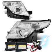 HID Xenon + 2011-2015 Ford Explorer Replace Projector Headlights - Chrome Clear