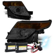 HID Xenon + 2011-2015 Ford Explorer Replace Projector Headlights - Smoked Amber