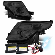 HID Xenon + 2011-2015 Ford Explorer Replace Projector Headlights - Smoked Clear