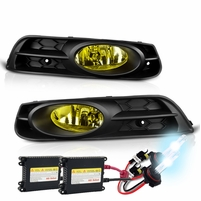 HID Xenon + 2012-2013 Honda Civic 2DR Coupe Factory Style Fog Lights - Yellow