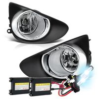 HID Xenon + 2012-2014 Toyota Yaris Hatchback OEM Style Fog Lights Kit - Clear