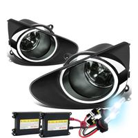 HID Xenon + 2012-2014 Toyota Yaris Hatchback OEM Style Fog Lights Kit - Smoked