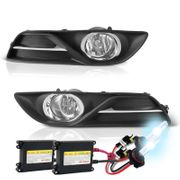 HID Xenon + 2013-2014 Nissan Sentra OEM Style Replacement Fog Lights - Clear