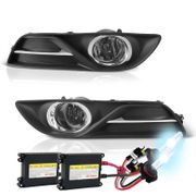 HID Xenon + 2013-2014 Nissan Sentra OEM Style Replacement Fog Lights - Smoked