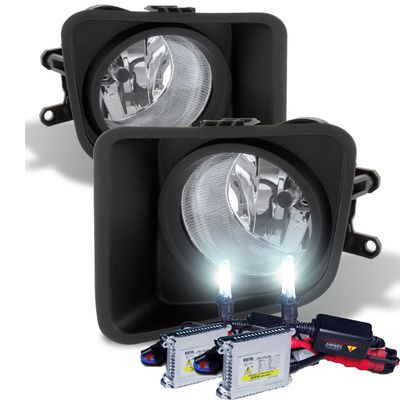 HID Xenon + Winjet 2014-2015 Toyota Trundra Fog Lights - Clear [Wiring Kit Included]