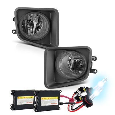 HID Xenon + 2014+ Toyota Tundra Factory Style Front Bumper Fog Lights Kit - Smoked