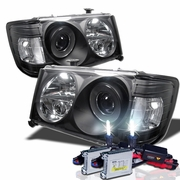 HID Xenon + 86-93 Mercedes Benz W124 E-Class 1-PC Projector Headlights - Black