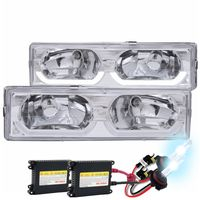 HID Xenon + 88-98 Chevy Full Size C/K / Tahoe / Suburban / Yukon U-Bar Crystal Headlights - Chrome