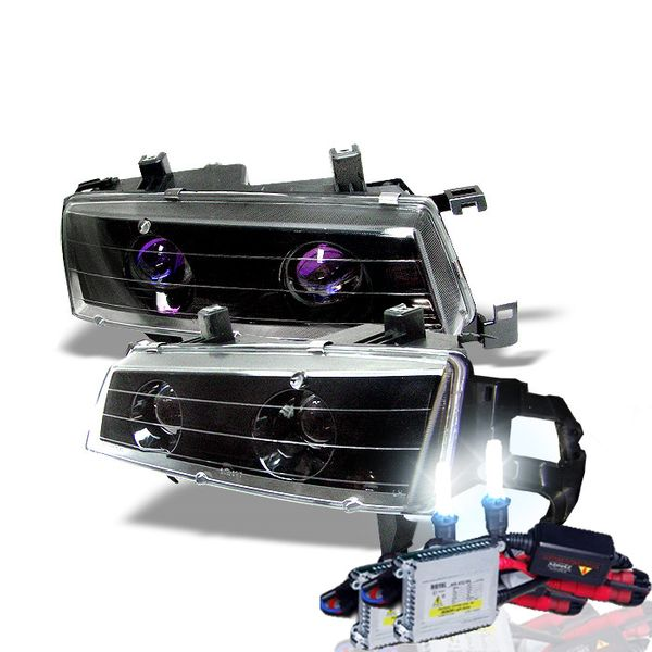 HID Xenon + 92-96 Honda Prelude Projector Headlights - Black