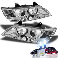 HID Xenon + 1996-2002 BMW Z3 Angel Eye Halo Projector Headlights - Chrome