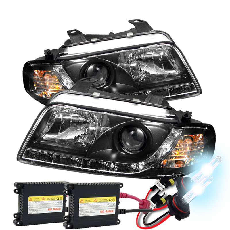 Hid Xenon 96 99 Audi A4 S4 Drl Led Euro Projector Headlights
