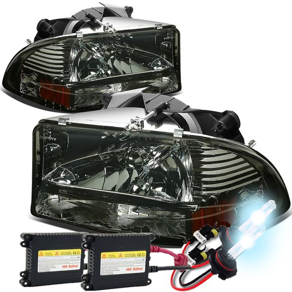 HID Xenon + 97-03 Dodge Dakota / 98-03 Durango 4pcs Replacement Headlights Set - Smoked