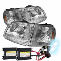 HID Xenon + 97-03 Ford F150 / Expedition Crystal Headlights + Corner - Chrome