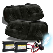 HID Combo 97-03 Ford F150 / Expedition Crystal Headlights + Corner - Smoked