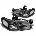 97-05 Chevy Venture / Pontiac Montana Replacement Crystal Headlights - Black Clear