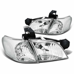 97-05 Chevy Venture / Pontiac Montana Replacement Crystal Headlights - Chrome Clear