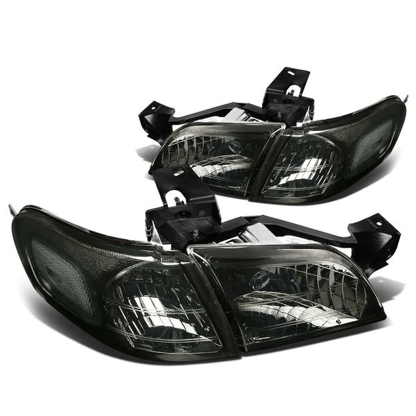 97-05 Chevy Venture / Pontiac Montana Replacement Crystal Headlights - Smoke Clear