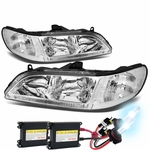HID Xenon + 98-02 Honda Accord Euro Style Crystal Headlights - Chrome