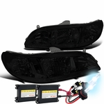 HID Xenon + 98-02 Honda Accord Euro Style Crystal Headlights - Smoked