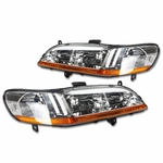 Spyder 1998-2002 Honda Accord Replacement Crystal Headlights - Chrome