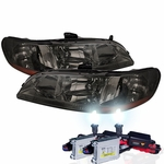 HID Xenon + 98-02 Honda Accord JDM Crystal Headlights- Smoked