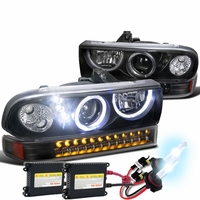 98-04 Chevy S10 Pickup Truck Halo Euro Projector Headlights By ... on