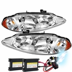 HID Xenon + 98-04 Dodge Intrepid Crystal Replacement Headlights - Chrome