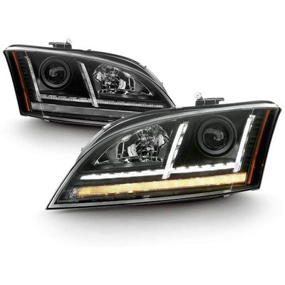 [HID / Xenon Model] 08-14 Audi TT LED DRL Sequential Turn Signal Projector Headlights