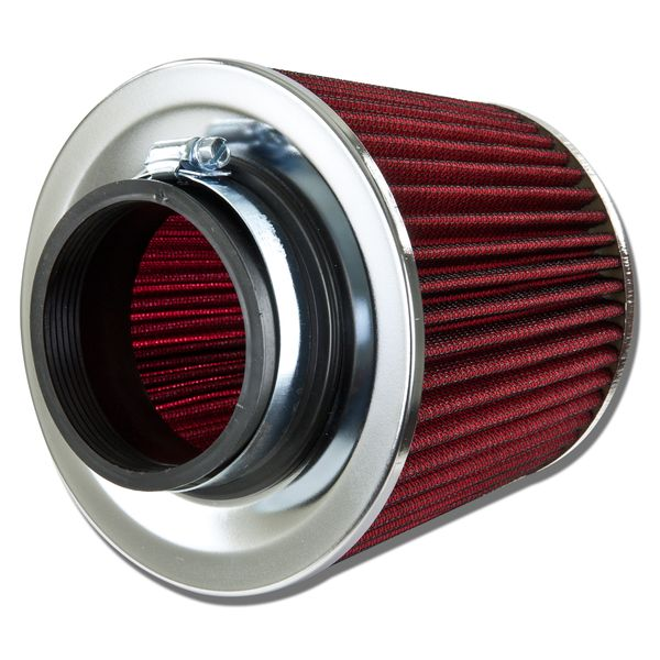 High Flow Air Filter - 3.00 Inch Inlet - Replacement Round Tapered Screen Top - Red