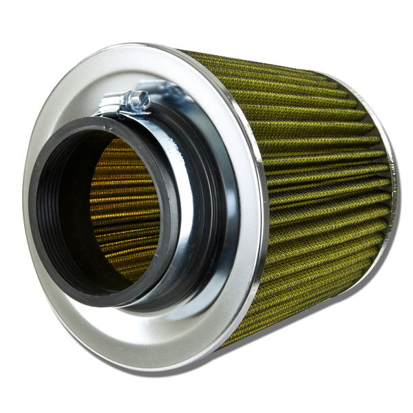 High Flow Air Filter - 3.00 Inch Inlet - Replacement Round Tapered Screen Top - Yellow