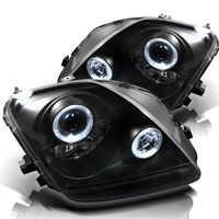 Spyder 1997-2001 Honda Prelude Angel Eye Halo Projector Headlights - Black