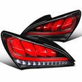 Hyundai 2010-2016 Genesis Coupe Red LED Sequential Signal Black Tail lights