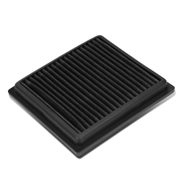Infiniti G35 / G37 / Nissan 350z / 370z Reusable & Washable Replacement High Flow Drop-in Air Filter (Black)