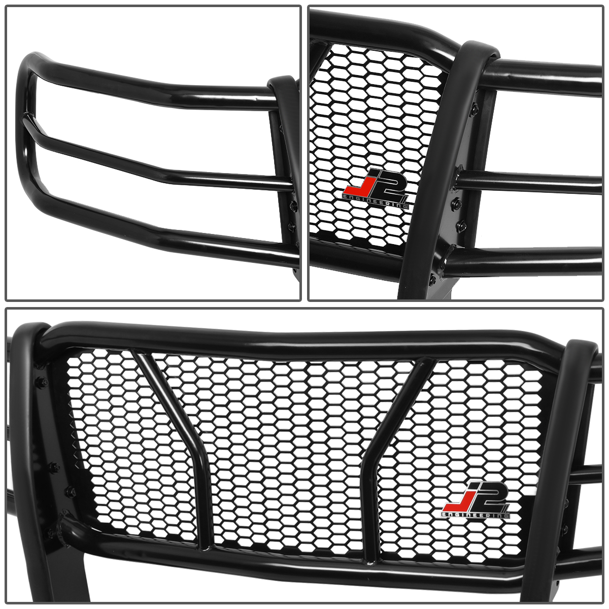 Mild Steel Front Bumper Headlight//Grille Brush Guard for 11-14 Chevy Silverado 2500HD//3500HD