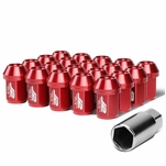 J2 Engineering 7075 Aluminum M12x1.5 25mm OD/35mm 20x Close-End Lut Nuts Red