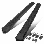 J2 For 2015-2020 Ford F150/F250/F350 Crew Cab 8-inch Wide Stainless Steel Running Boards Black